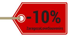 Zaragoza Olé Souvenirs-Cupón-Concurso de San Valentín
