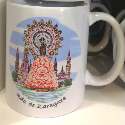 Taza Recuerdo Virgen del Pilar