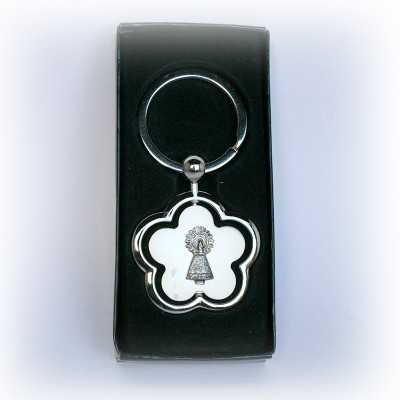 KEY RING WITH FLOWER FORM