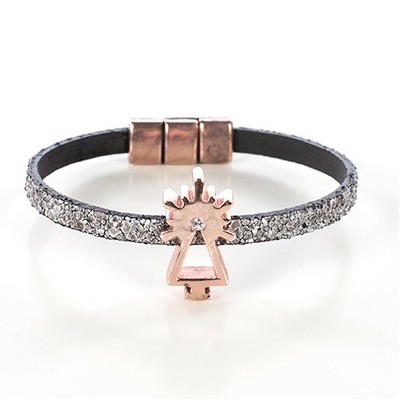 SMOOTH LEATHER BRACELET PINK LADY