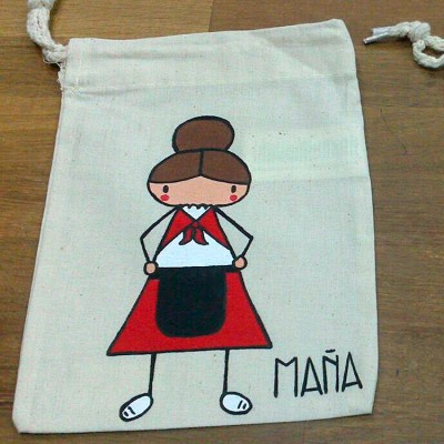 Snack bags hand painted
