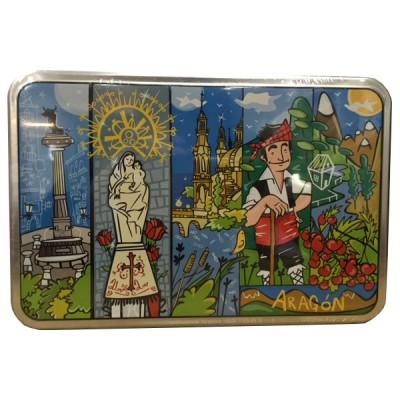 Caja de galletas decorada Aragón