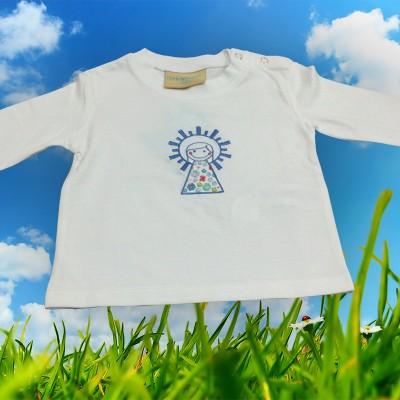 Camiseta con Virgen del Pilar bordada