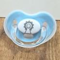 Chupete de la Virgen del Pilar en color Azul
