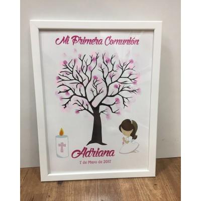 CUADRO DE HUELLAS PRIMERA COMUNIÓN