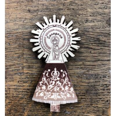 Imanes madera Virgen Pilar