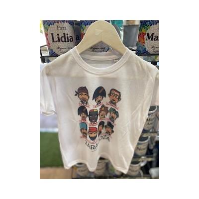 Camiseta cabezudos niño y niña