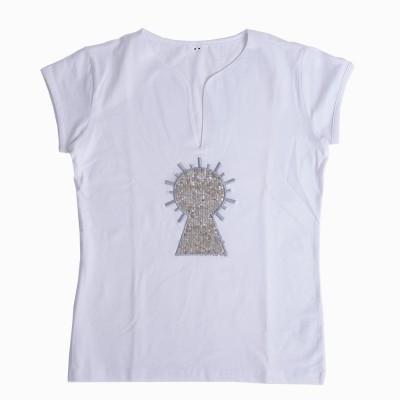 Camiseta Señora Vírgen bordada